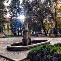 Photo taken at Palackého Gardens by Marketa on 10/10/2014