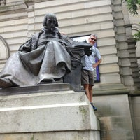 Photo taken at Shakespeare Statue by Anthony B. on 6/2/2013