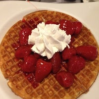 Photo taken at Crepes & Waffles by Lucy C. on 10/28/2012