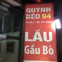 Photo taken at Lẩu Gầu Bò Quỳnh Béo by Chris T. on 3/4/2017