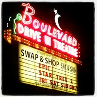 Photo taken at Boulevard Drive-In Theatre by Alexis C. on 6/8/2013