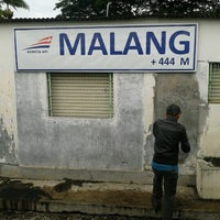 Photo taken at Stasiun Malang by Pandu Suryo W. on 1/7/2013