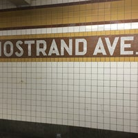 Photo taken at MTA Subway - Nostrand Ave (A/C) by Maryna B. on 1/17/2016