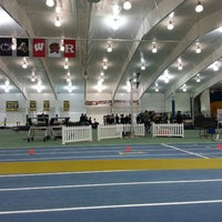 Photo taken at Michigan Indoor Track Building by Rochelle J. on 2/21/2015