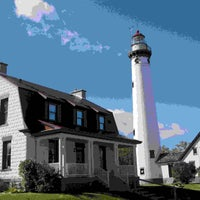 Photo taken at New Presque Isle Lighthouse by Presque I. on 5/20/2016