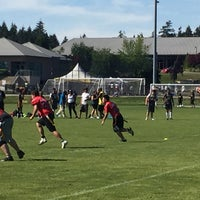 Photo taken at South Surrey Athletic Park by Dana A. on 5/7/2016