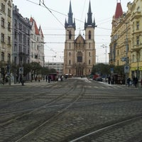Photo taken at Strossmayerovo náměstí (tram) by Jenda Š. on 12/14/2012