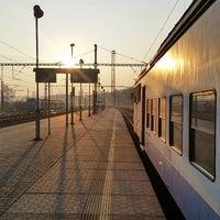 Photo taken at Železniční stanice Praha-Libeň by Jenda Š. on 3/24/2015