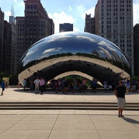 Photo taken at Cloud Gate by Anish Kapoor by Francisco Tiago M. on 7/18/2013
