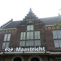 Photo taken at Maastricht Railway Station by Valentina B. on 8/19/2013