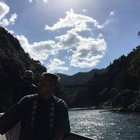 Photo taken at 保津川支流 by yuko on 10/25/2015
