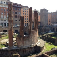 Photo taken at Largo di Torre Argentina by Franco M. on 2/16/2013