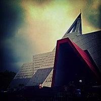 Photo taken at Museum Gunung Api Merapi by Wenang E. on 10/23/2013