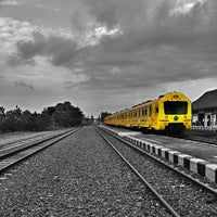 Photo taken at Stasiun Patukan by Wenang E. on 9/30/2014