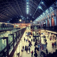 Photo taken at London St Pancras International Railway Station (STP) by Adam P. on 11/18/2012