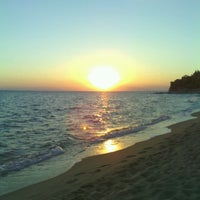 Photo taken at Koviou Beach by Rossi Y. on 9/6/2013