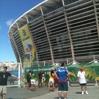 Photo taken at Itaipava Arena Fonte Nova by Bruna M. on 7/1/2013