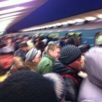 Photo taken at metro Vykhino by Alexey D. on 3/13/2013