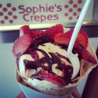 Photo taken at Sophie's Crepes by Daniel W. on 1/13/2013