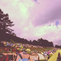 Photo taken at Fuji Rock Festival '13 Camp Site by hokuto k. on 7/28/2013