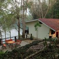 Photo taken at Sai yok river house by Penneung P. on 2/26/2014