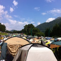Photo taken at Fuji Rock Festival '13 Camp Site by kobana19 on 7/28/2013