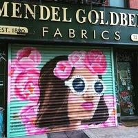 Photo taken at Mendel Goldberg Fabrics by Lower East Side Partnership on 9/12/2016