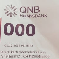 Photo taken at QNB Finansbank by Gökmen A. on 12/1/2016