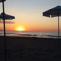 Photo taken at Централен Плаж Бургас (Burgas Central Beach) by Şenay Ö. on 7/22/2013