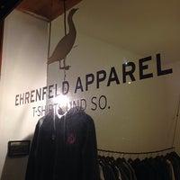 Photo taken at Ehrenfeld Apparel Flagship Store by Luke K. on 12/20/2013