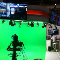 Photo taken at Vizrt booth 7.A10 by Chris B. on 9/12/2013