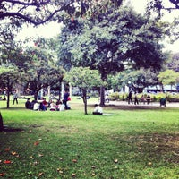 Photo taken at Parque de la 93 by Andre R. on 10/4/2012