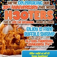 Photo taken at Hooters by Ms. Toni on 1/25/2013