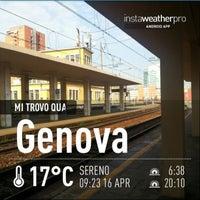 Photo taken at Genova Sampierdarena Railway Station by Maurizio R. on 4/16/2013