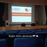 Photo taken at Sifa Universitesi Konferans Salonu by Yaşar K. on 12/21/2015
