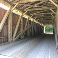 Photo taken at White Rock Forge Covered Bridge by Katie C. on 8/20/2017