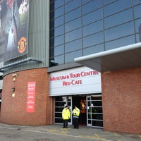 Photo taken at Manchester United Red Café by Majid on 3/5/2013