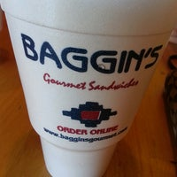 Photo taken at Baggin's Gourmet Sandwiches by Sunny B. on 10/16/2013