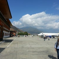 Photo taken at Paro International Airport (PBH) by Ducky D. on 11/3/2013