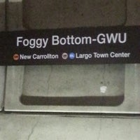 Photo taken at Foggy Bottom-GWU Metro Station by J V. on 6/2/2013