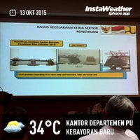 Photo taken at Kementerian Pekerjaan Umum RI by Eshape B. on 10/13/2015