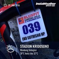 Photo taken at Stadion Kridosono by Eshape B. on 1/30/2016