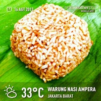 Photo taken at Warung Nasi Ampera by Eshape B. on 8/16/2013