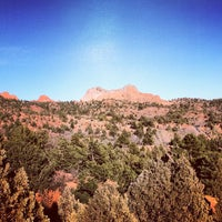 Photo taken at Balanced Rock At Garden Of The Gods by Crispin B. on 11/22/2012