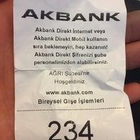 Photo taken at Akbank Ağrı Şubesi by Mahmut P. on 6/19/2017