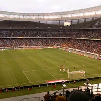 Photo taken at Cape Town Stadium by Adrian B. on 5/1/2013