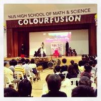 Photo taken at NUS High School of Math & Science by Wei Ren C. on 9/20/2013