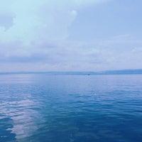 Photo taken at Kolaylı Beach by Özlem K. on 8/7/2014
