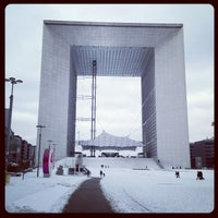 Photo taken at Grande Arche de la Défense by Bastien N. on 3/13/2013
