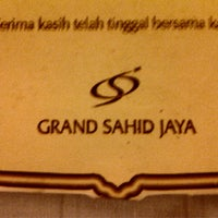 Photo taken at Grand Sahid Jaya by Adie Z. on 10/14/2012